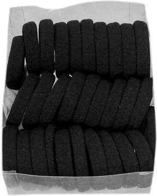 Goodsbazaar Thick Elastic Hair Black Rubber Band