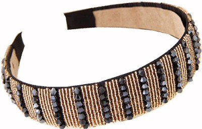 Cilver Fashion Beautiful Crystal and Gold beads Hair Band