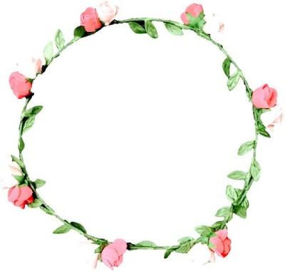 FashBlush Forever New Peach Roses Flower Leaf Tiara Head Band