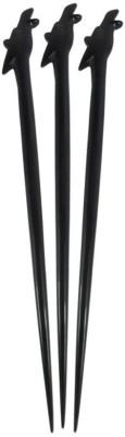 Prakrita Handicraft Giraffe Head Hair Pins Made of Buffalo Horn (Pack of 3) Hair Pin