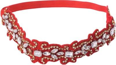 Trinketbag Red glass cut Hair Band