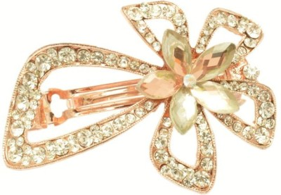 Shopaholic Fashion Flower Designer Crystal Back Hair Clip