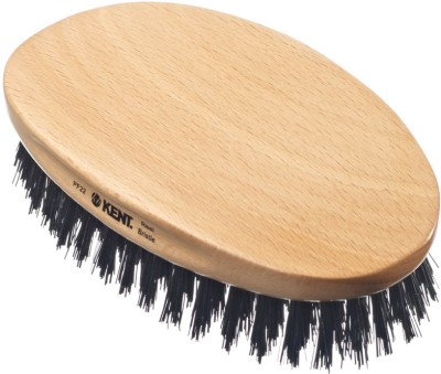 Kent PF22 Mens Military Natural Bristle Hair Brush