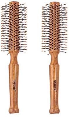 Ankita Round Wooden Brush Pack of 2