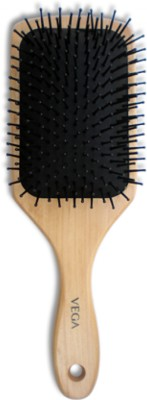 Vega Premium Wooden Bristle Paddle Hair Brush E2-PB
