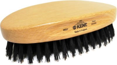 Kent Mg2 Oval Beechwood Black Pure Bristle Luxury Military Brush For Fine & Thinning Hair