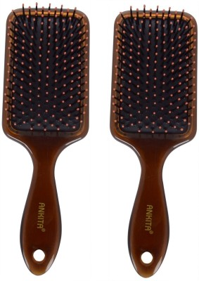 Ankita Mini Paddle Brush AP144  Set of 2 Pc   available at Flipkart for Rs.175