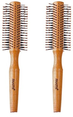 Ankita Round Brush Wooden Handle Pack of 2