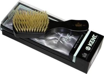 Kent Oe1 Rectangular Ebonywood White Pure Bristle Luxury Club Brush