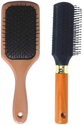 Babila FLAT & BIG PADDLE HAIR BRUSH (WOODEN)