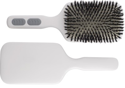 Kent AHP12 Pure Bristle Extra Large Paddle Brush - White