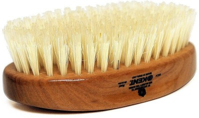 Kent Mc4 Oval Cherrywood Travel Size White Pure Bristle Luxury Military Brush