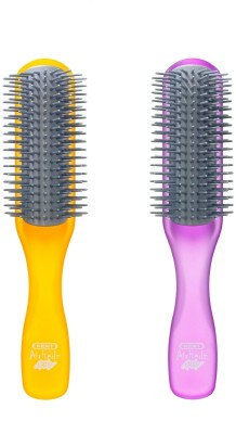 Kent Combo AHGLO1 Everyday Combing & Styling Brush(Orange+Purpl)