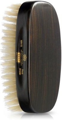 Kent Mn1b Rectangular Ebonywood White Pure Bristle Luxury Military Brush