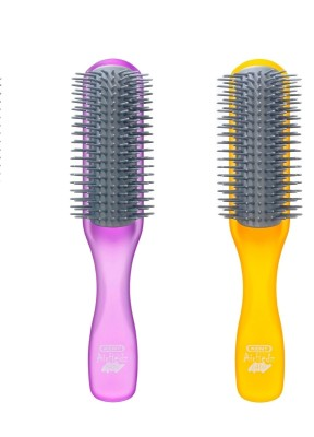 Kent Combo AHGLO1 Everyday Combing & Styling Brush(Purple+Orang)