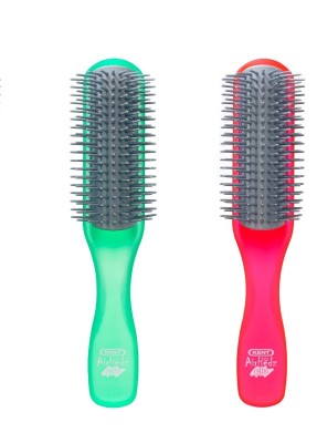 Kent Combo AHGLO1 Everyday Combing & Styling Brush(Apple+Raspb)