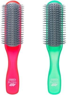 Kent Combo AHGLO1 Everyday Combing & Styling Brush(Raspb+Apple)