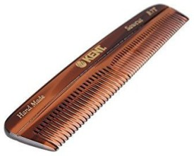 Kent The Handmade Comb - Fine and Coarse Toothed Pocket Comb Sawcut R7T, 130 mm