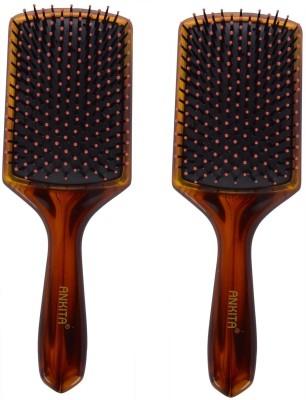 Ankita Paddle Brush AP146 Shell( Set of 2 Pc )
