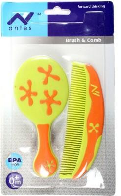 Baby Bucket Antes Brush & Comb Set (Green)
