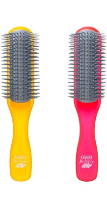 Kent Combo AHGLO1 Everyday Combing & Styling Brush(Orange+Raspb)