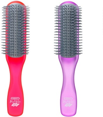 Kent Combo AHGLO1 Everyday Combing & Styling Brush(Raspb+Purple)