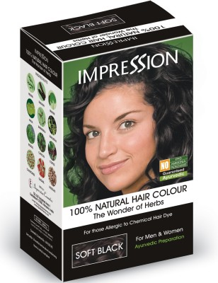 Impression 100% Natural Herbal Hair Color(Soft Black)