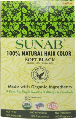 Sunab 100% Natural Soft Black Hair Color