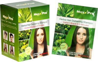 MaxxPro (Pack of 5) Black Hair magic shampoo Hair Color