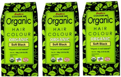 Radico Certified Organic & 100% Natural- SOFT BLACK ( Set Of 3 Boxes ) Hair Color