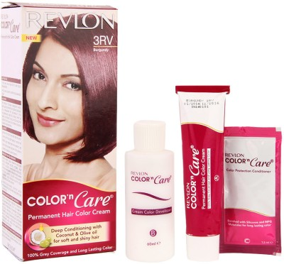 Revlon Color N Care Permanent Hair Color Cream Hair Color(3RV Burgundy)