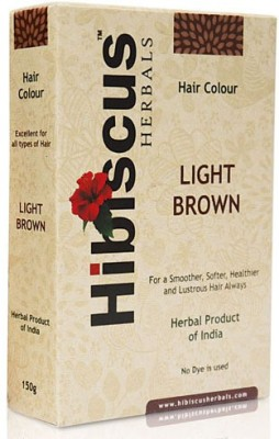 Hibiscus Herbals Hair Colour Light Brown Hair Color(Hibiscus Herbal Hair Colours ( LIGHT BROWN))