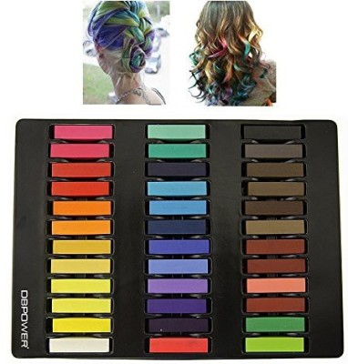 DBPOWER Non Toxic Hair Chalk Temporary Hair Dye Colors Soft Pastels Salon Set Kit Hair Color