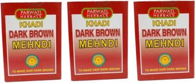 Khadi Herbal Brown Mehndi pack of 3 Hair Color