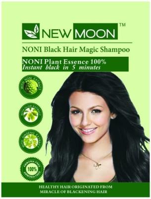 New Moon Noni Black Hair Magic Shampoo Permanent Hair Color(Green)