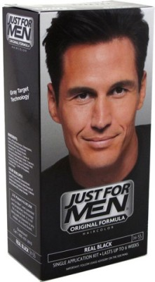 Just For Men Shampoo In Hair Color Real Black H- 55 Hair Color
