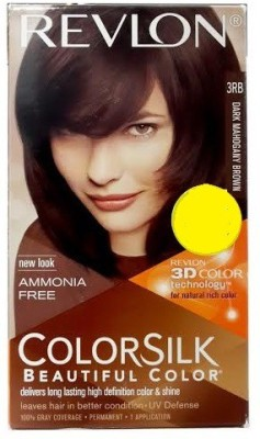 Revlon Silk 3d 3rb Dark Mahogany Brown Hair Color