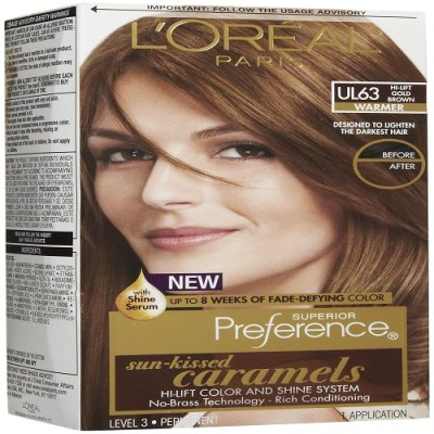 L,Oreal Paris Sun-Kissed Caramels Hi-Lift Hair Color
