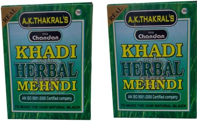 A.K. Thakrals KHADI HERBAL MEHNDI Hair Color(NATURAL BLACK)