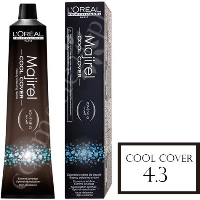 LOreal Professionnel majirel cool cover hair coloring Hair Color(4.3 Beige- Golden Brown)