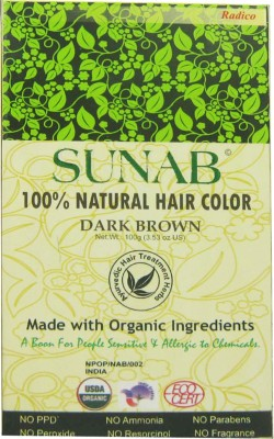 Sunab 100% Natural Dark Brown Hair Color