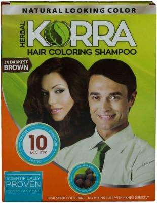 Korra Coloring Shampoo Darkest Brown Color pack of 10