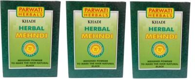 Khadi Herbal Black Mehndi Pack of 3 Hair Color