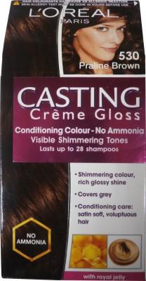 L,Oreal Paris Casting Creme Gloss Hair Color(Praline Brown - 530)