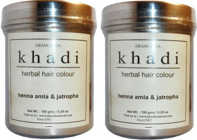 khadi Natural Henna Amla & Jatropha (Pack of 2) Hair Color