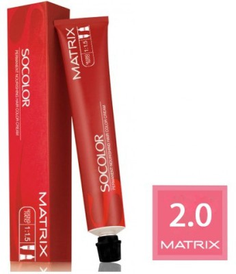 Matrix Socolor Permanent Cream Hair Color(2.0 Black)