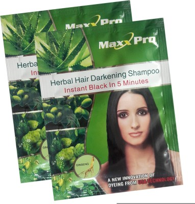 MaxxPro Black magic hair shampoo pack of 2 Hair Color