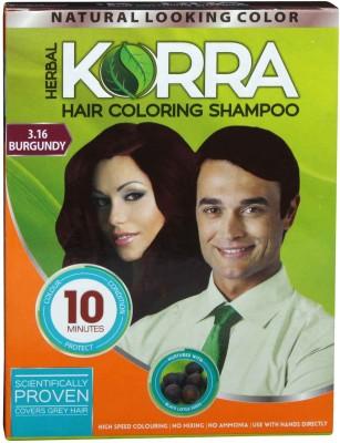 Korra Coloring Shampoo Burgundy Color pack of 10