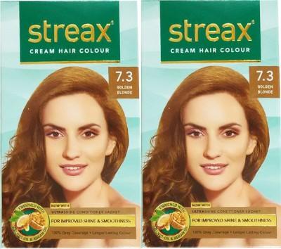 Streax Cream, Pack of 2, Hair Color(Golden Blonde)