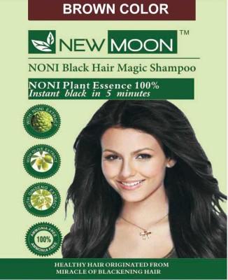New Moon Noni Noni Hair Color Shampoo 20 Sachets Brown  Hair Color